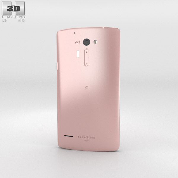 LG Isai VL Pink 3d model