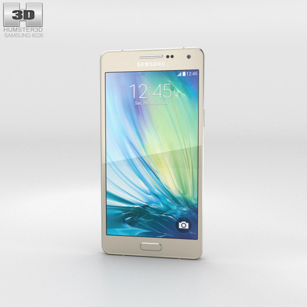 Samsung Galaxy A5 Champagne Gold 3d model