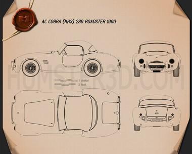 AC Shelby Cobra 289 roadster 1966 Blueprint