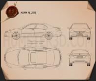 Acura RL 2012 Blueprint