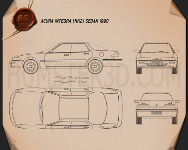 Acura Integra 1990 Blueprint