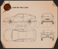 Acura RSX Type-S 2005 Blueprint