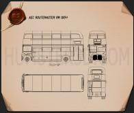 AEC Routemaster RM 1954 Blueprint