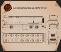 Alexander Dennis Enviro500 Open Top Bus 2005 Blueprint