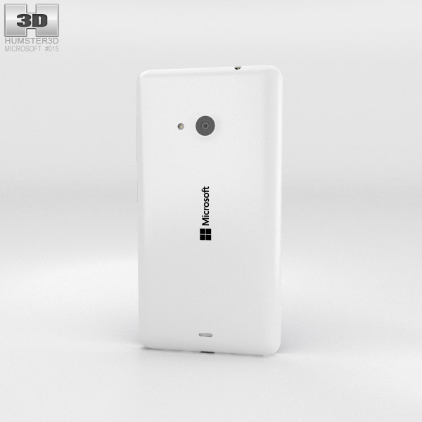 Microsoft Lumia 535 White 3d model
