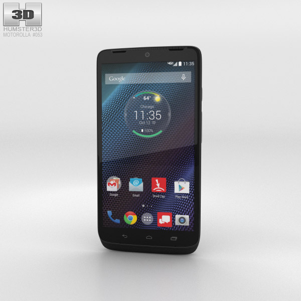 Motorola Droid Turbo Black Ballistic Nylon 3d model