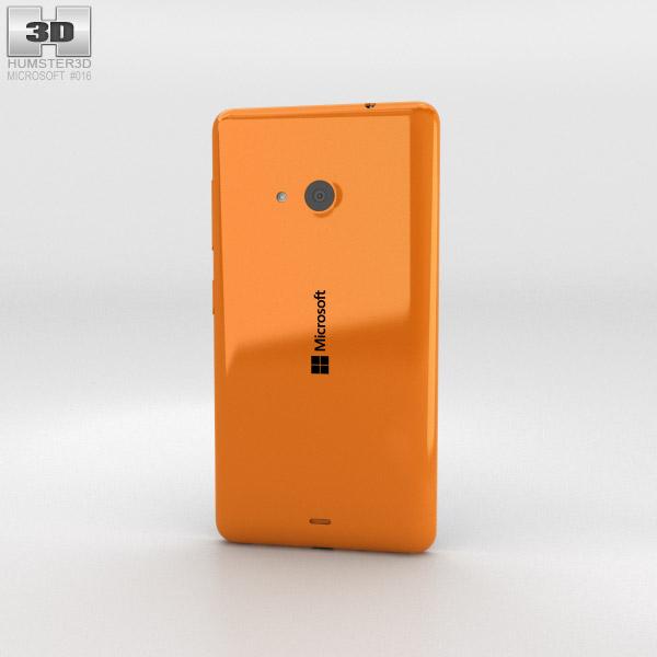 Microsoft Lumia 535 Orange 3d model