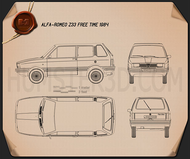 Alfa Romeo Z33 Free Time 1984 Blueprint