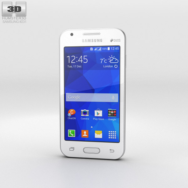 Samsung Galaxy V White 3d model