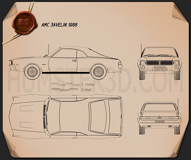 AMC Javelin 1968 Blueprint