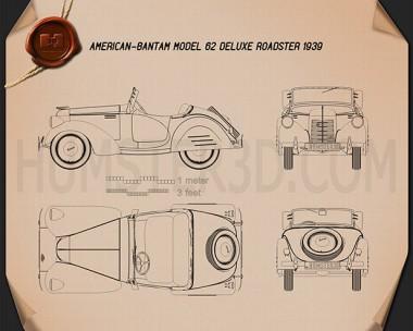 American Bantam Model 62 Deluxe Roadster 1939 Blueprint