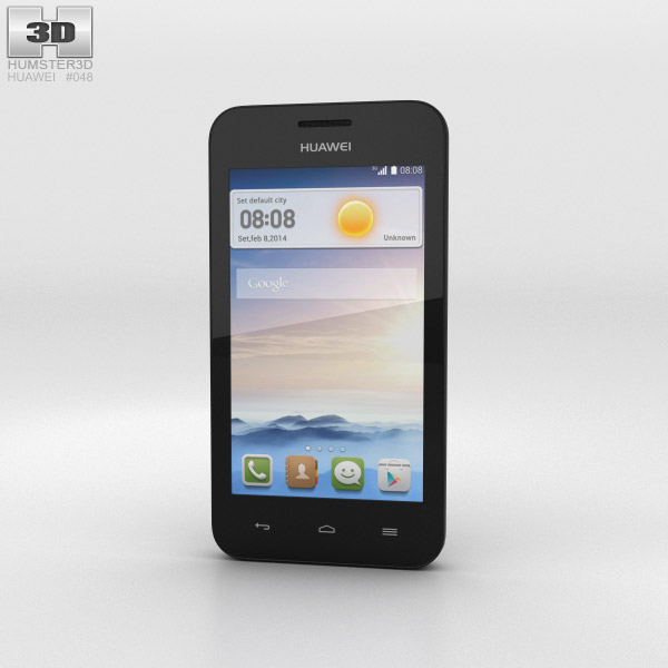 Huawei Ascend Y330 Black 3d model