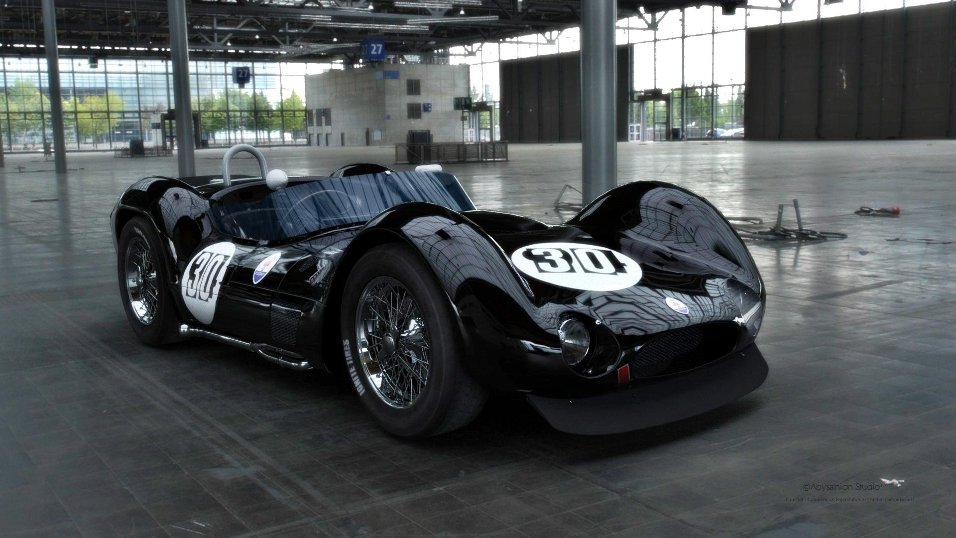 "Maserati Tipo61 ""Birdcage"" 3d art"