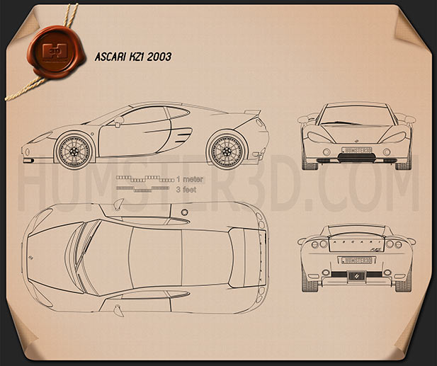 Ascari KZ1 2003 Blueprint