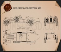 Aston Martin 2-Litre Speed Model 1939 Blueprint
