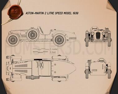 Aston Martin 2-Litre Speed Model 1939 Blueprint