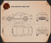 Aston Martin AM4 1997 Blueprint