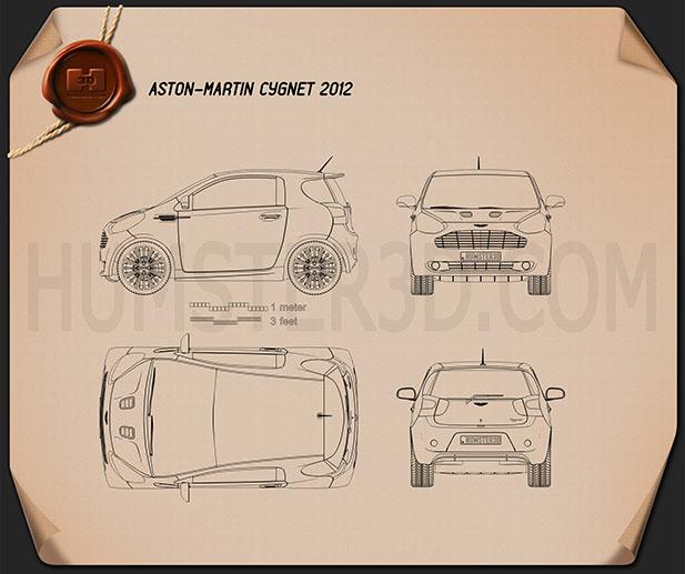 Aston Martin Cygnet 2012 Blueprint