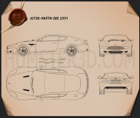 Aston Martin DB9 2004 Blueprint