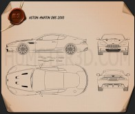Aston Martin DBS 2010 Blueprint