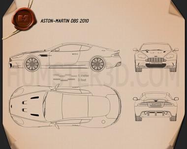 Aston Martin DBS 2010 Blueprint