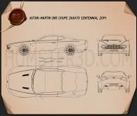 Aston Martin DB9 Coupe Zagato Centennial 2014 Blueprint