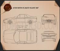 Aston Martin V8 Zagato 1987 Blueprint