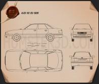 Audi 80 (B3) 1986 Blueprint
