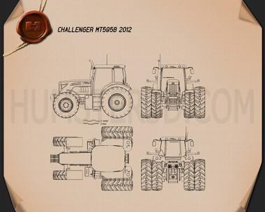 Caterpillar Challenger MT595B 2012 Blueprint