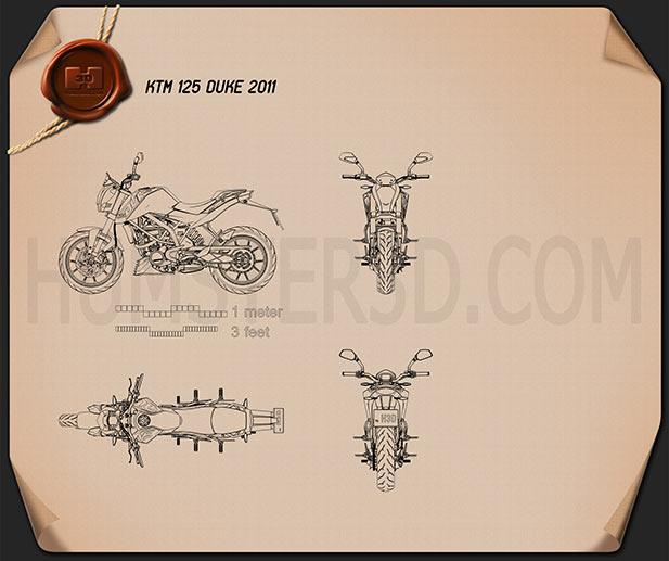 KTM 125 Duke 2011 Blueprint