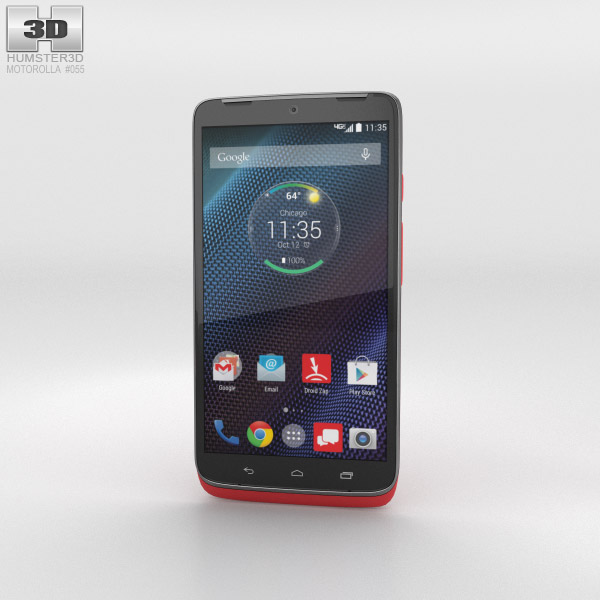 Motorola Droid Turbo Metallic Red 3d model