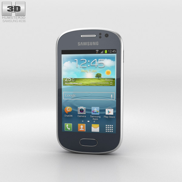 Samsung Galaxy Fame Blue 3d model