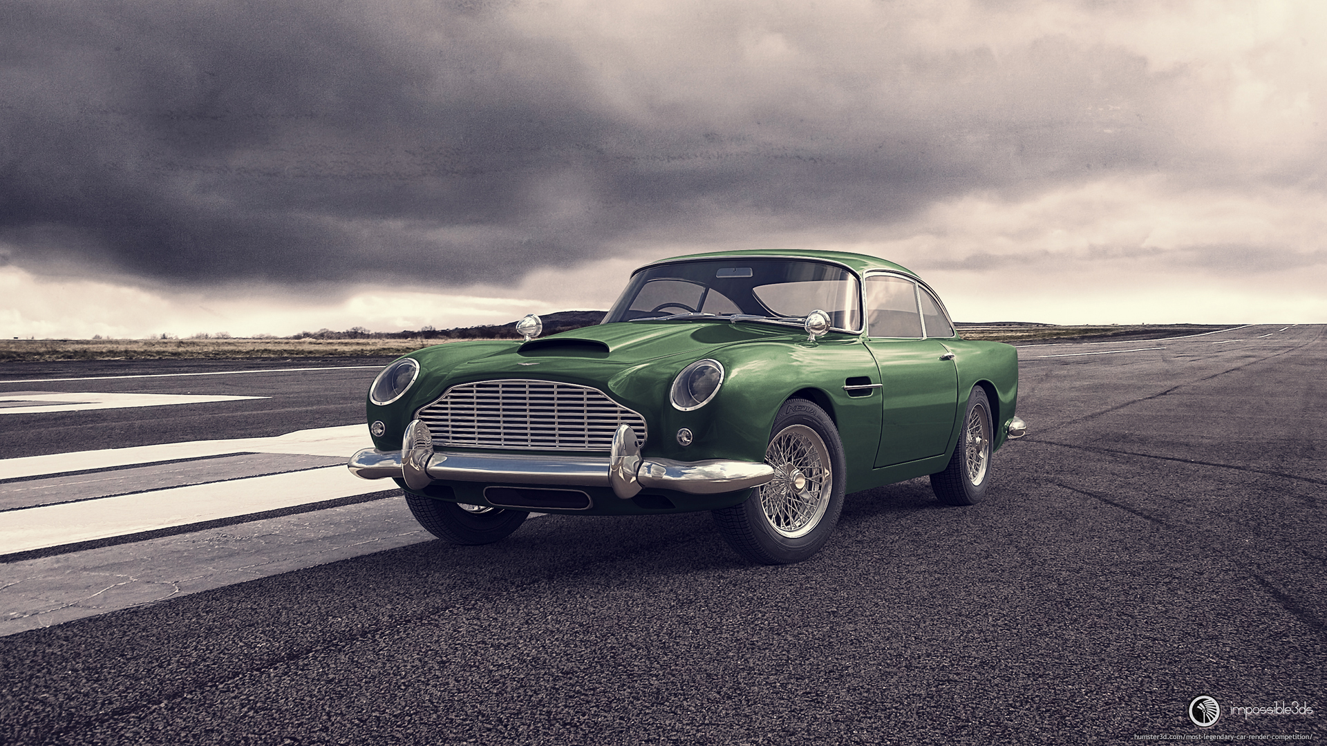 Aston Martin DB5 3d art