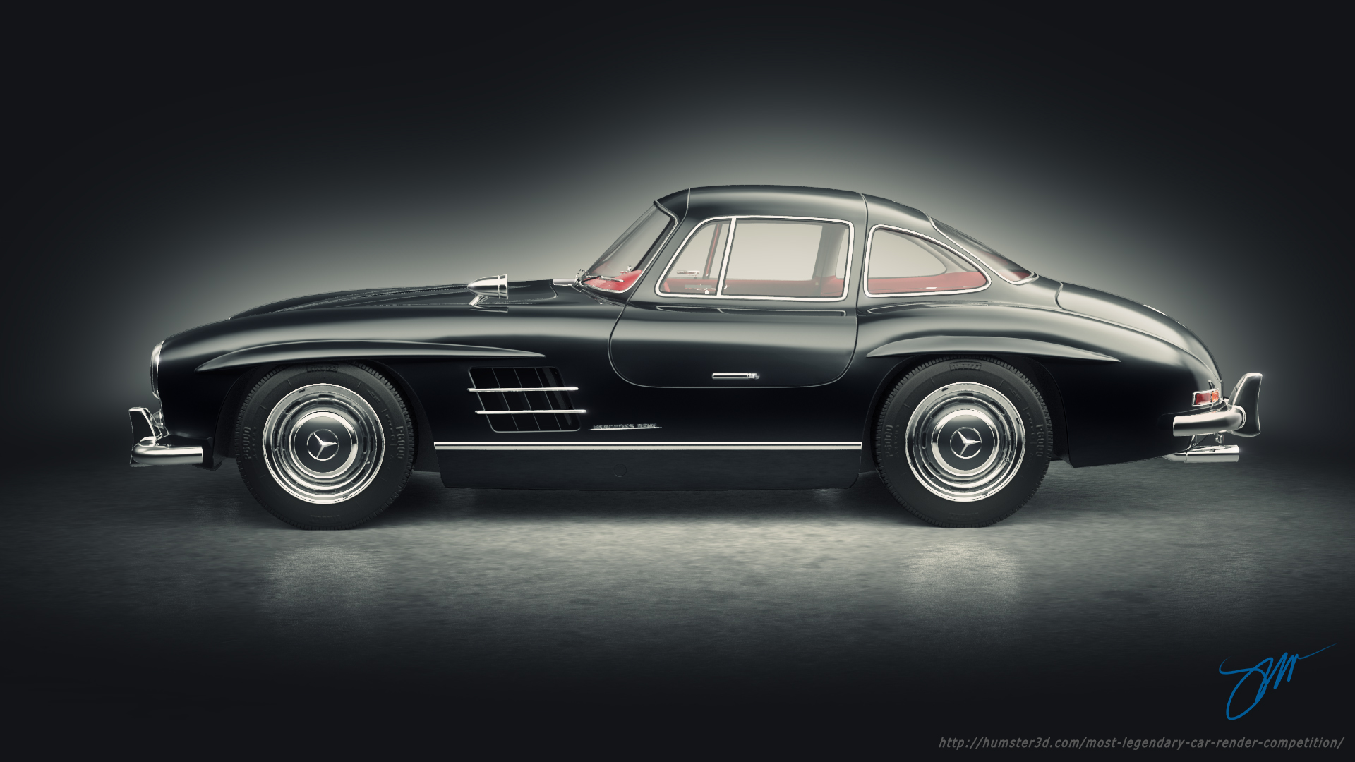 Mercedes Benz 300SL 3d art