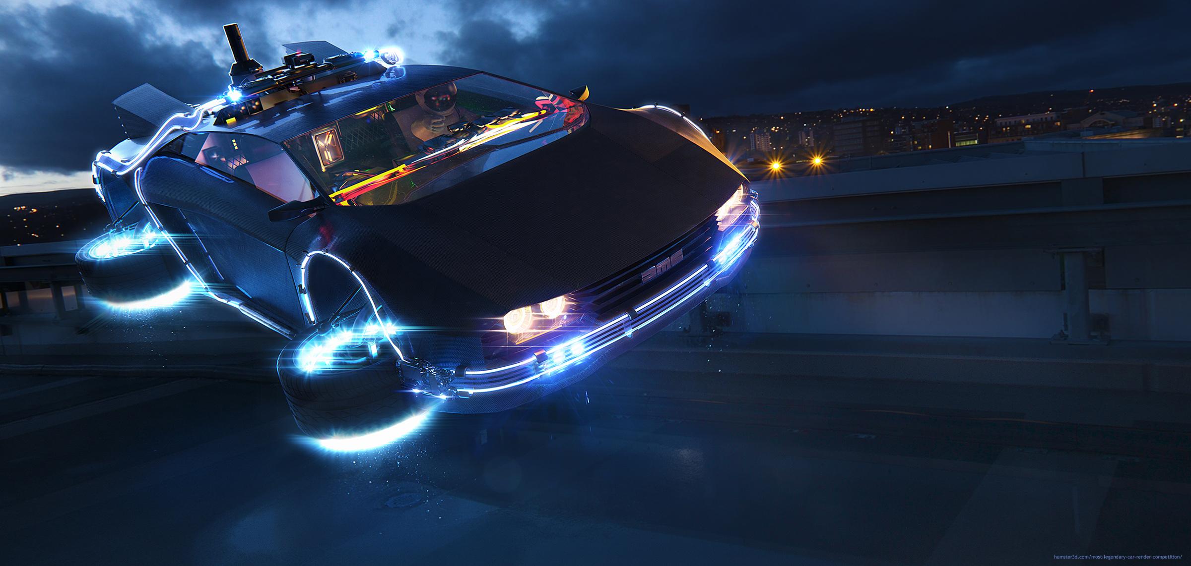 The Arrival of DeLorean 3d art
