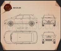 BYD e6 2011 Blueprint