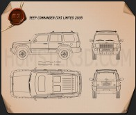 Jeep Commander (XK) Limited 2006 Blueprint