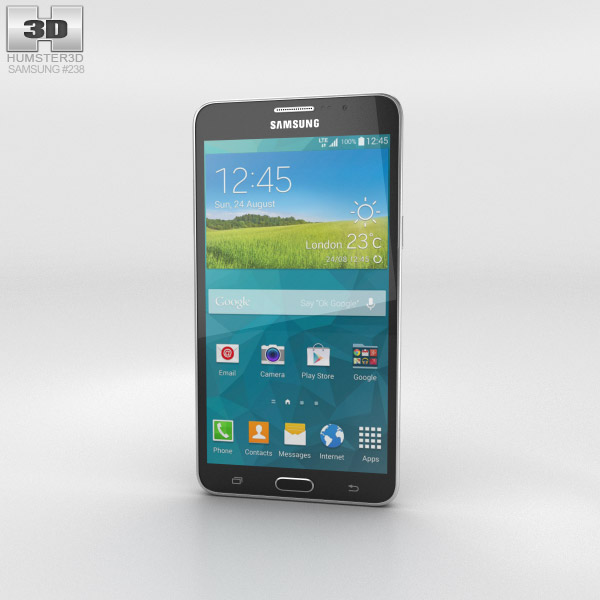 Samsung Galaxy Mega 2 Black 3d model
