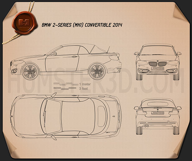 BMW 2 Series convertible 2014 Blueprint