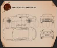 BMW 6 Series (F06) Gran Coupe 2012 Blueprint