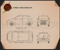 Citroen C1 5-door 2014 Blueprint