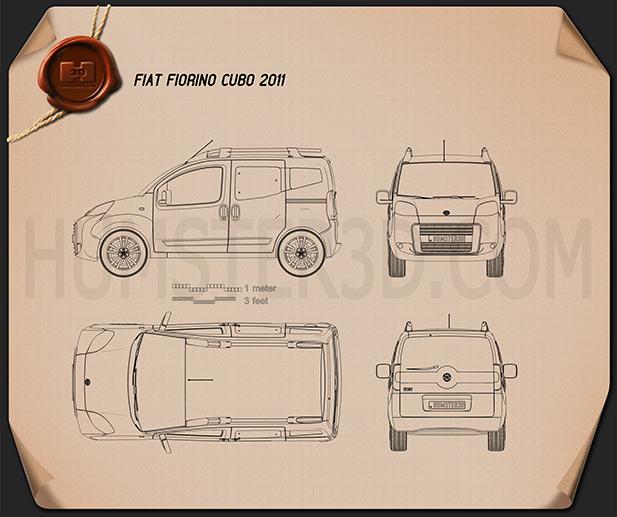 Fiat Fiorino Qubo 2011 Blueprint