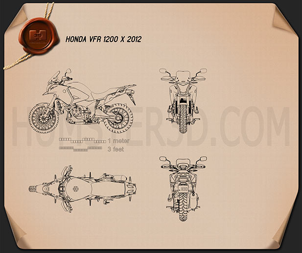 Honda VFR1200X 2012 Blueprint