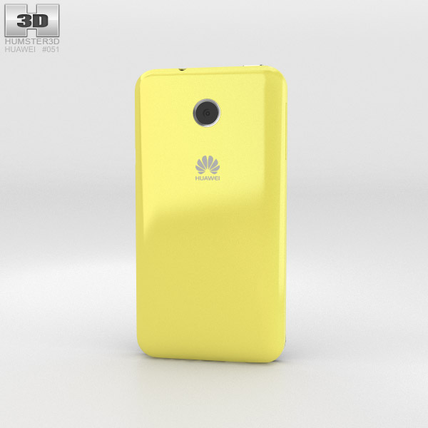 Huawei Ascend Y330 Yellow 3d model