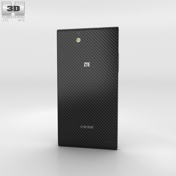 ZTE Grand Xmax Black 3d model