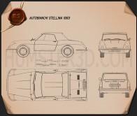 Autobianchi Stellina 1964 Blueprint