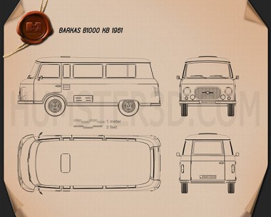 Barkas B1000 KB 1961 Blueprint
