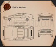 DeLorean DMC-12 1981 Blueprint