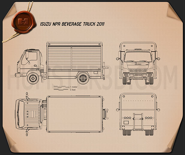 Isuzu NPR Beverage 2011 Blueprint