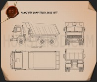 Kamaz 5511 Dump Truck 1977 Blueprint